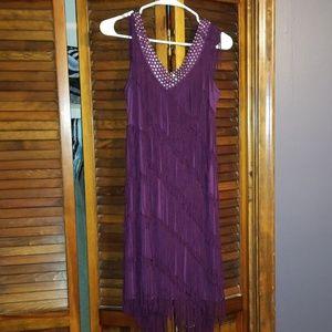 XL Purple Flapper Costume